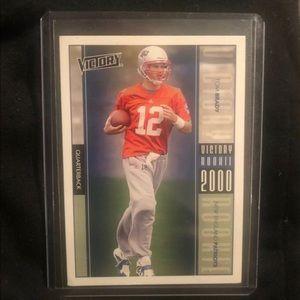 Tom Brady NFL 2000 Victory Rookie Card Patriots